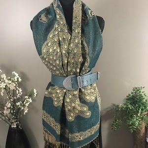 Pashmina Peacock Shawl Scarf